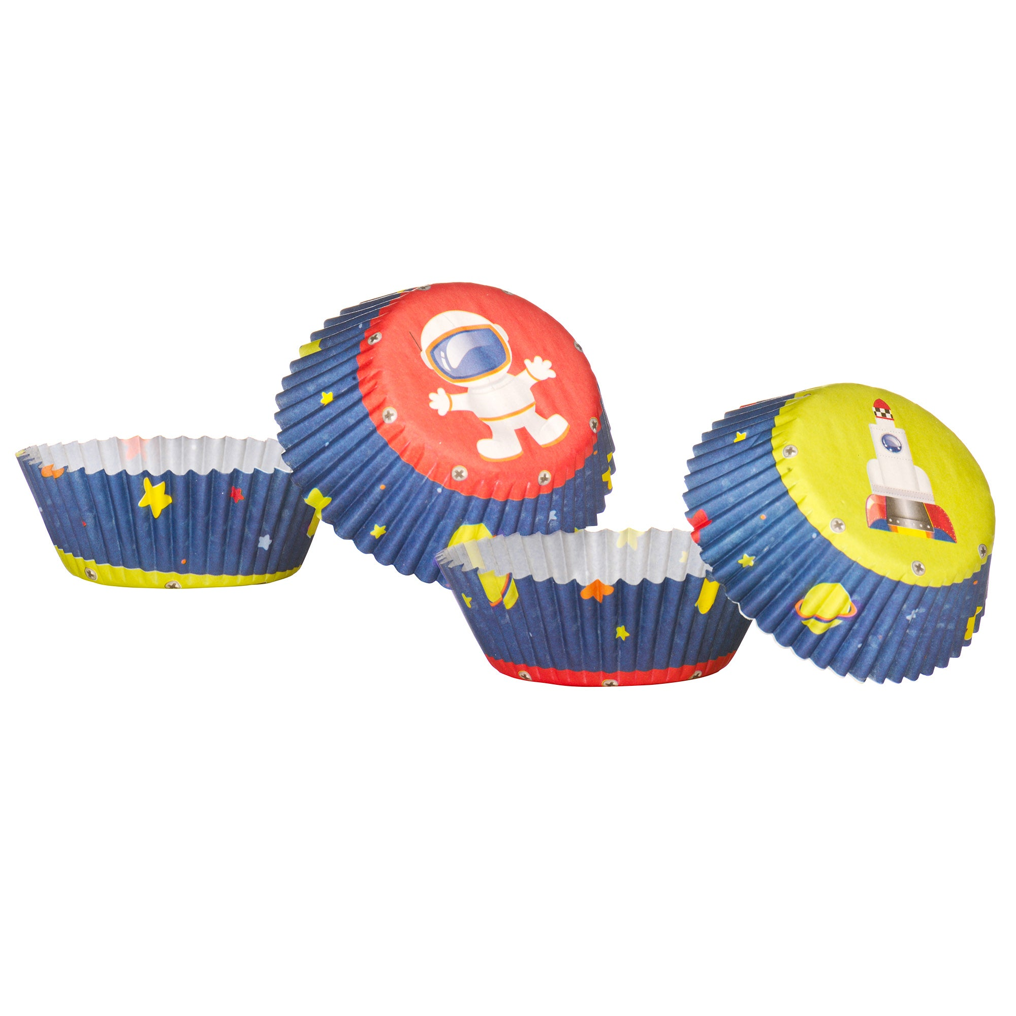 Kids Pack of 60 Medium Rocket Cupcake Cases
