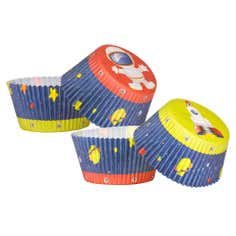 Kids Pack of 40 Large Rocket Cupcake Cases