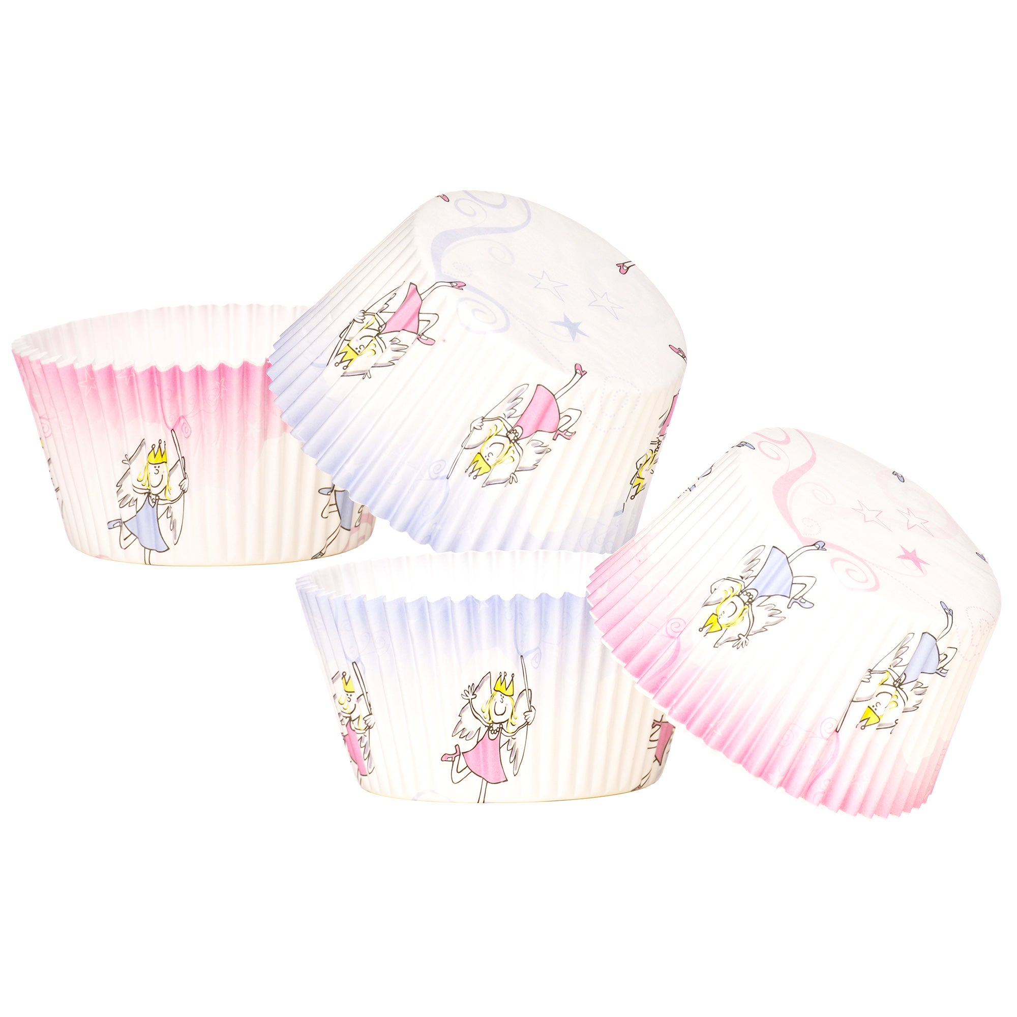 Kids Pack of 40 Large Fairies Cupcake Cases