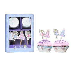 Kids Fairies Cupcake And Topper Set