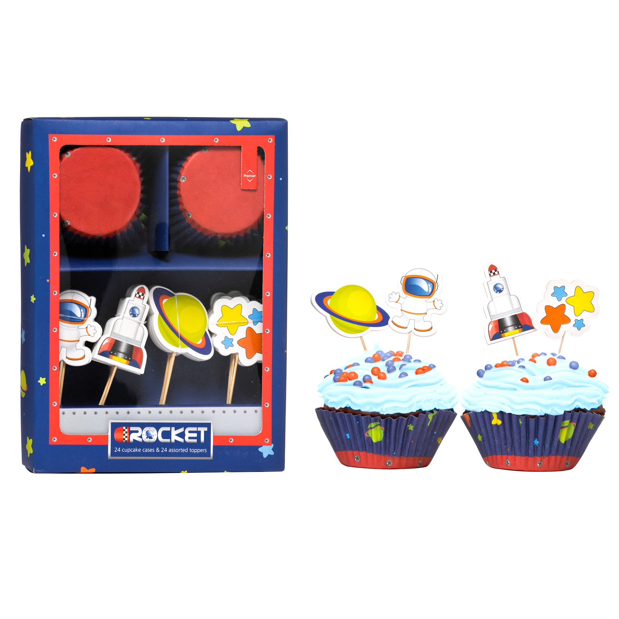 Kids Space Cupcake And Topper Set