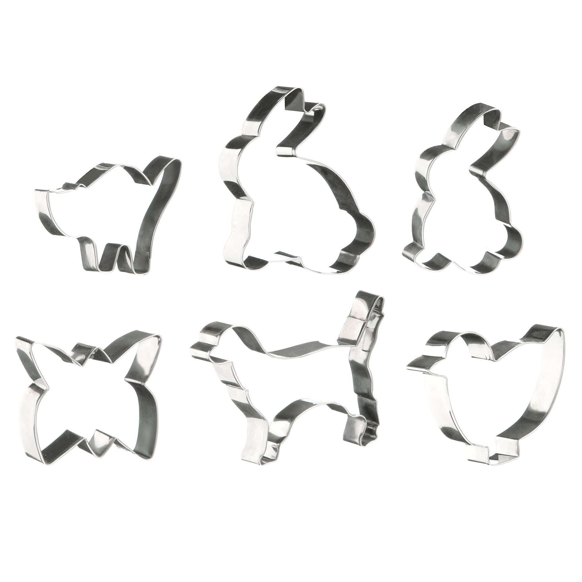 Set of 6 Animal Cookie Cutters