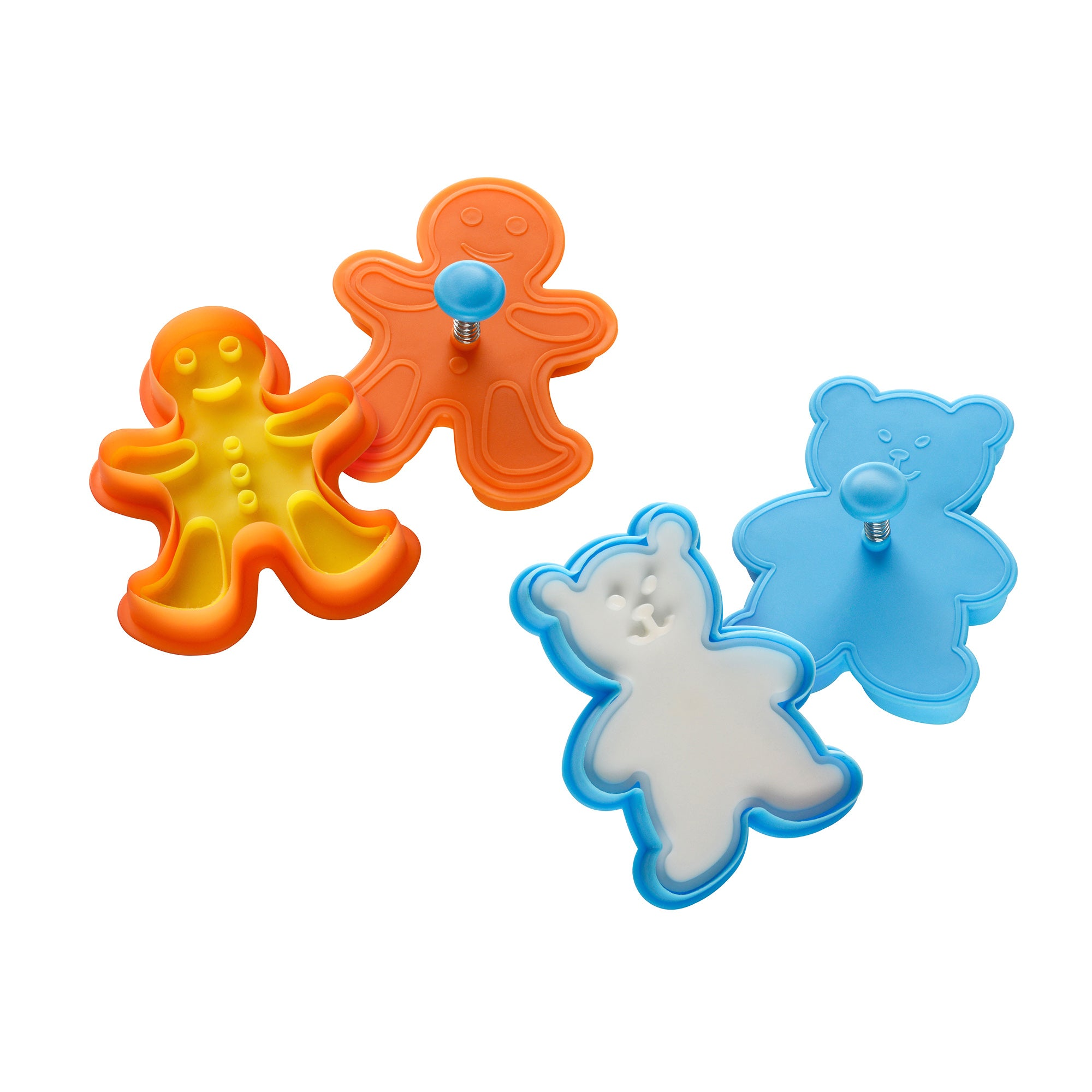 Teddy Bear and Gingerbread Man Cookie Cutter Stamps