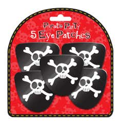 5 Pirate Party Eye Patches