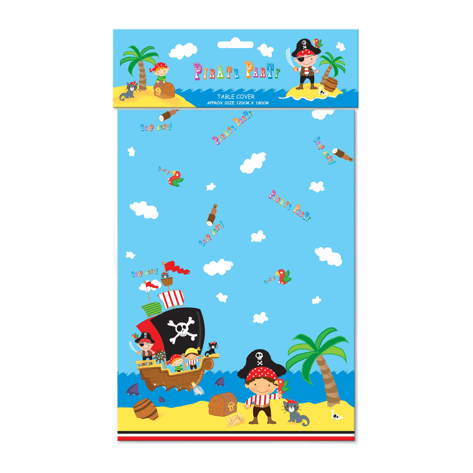 Pirate Party Plastic Table Cover