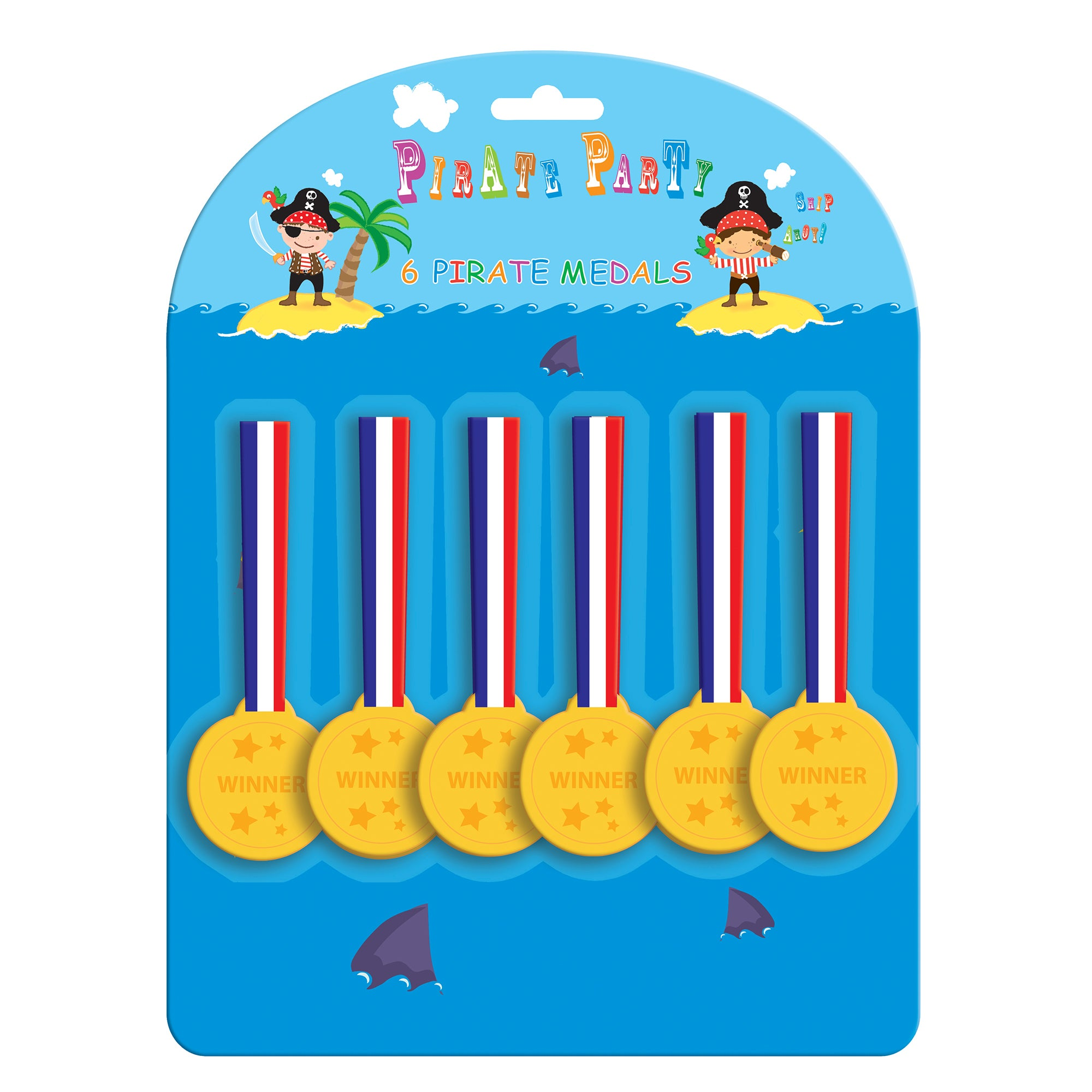 Pirate 6 x Plastic Medals
