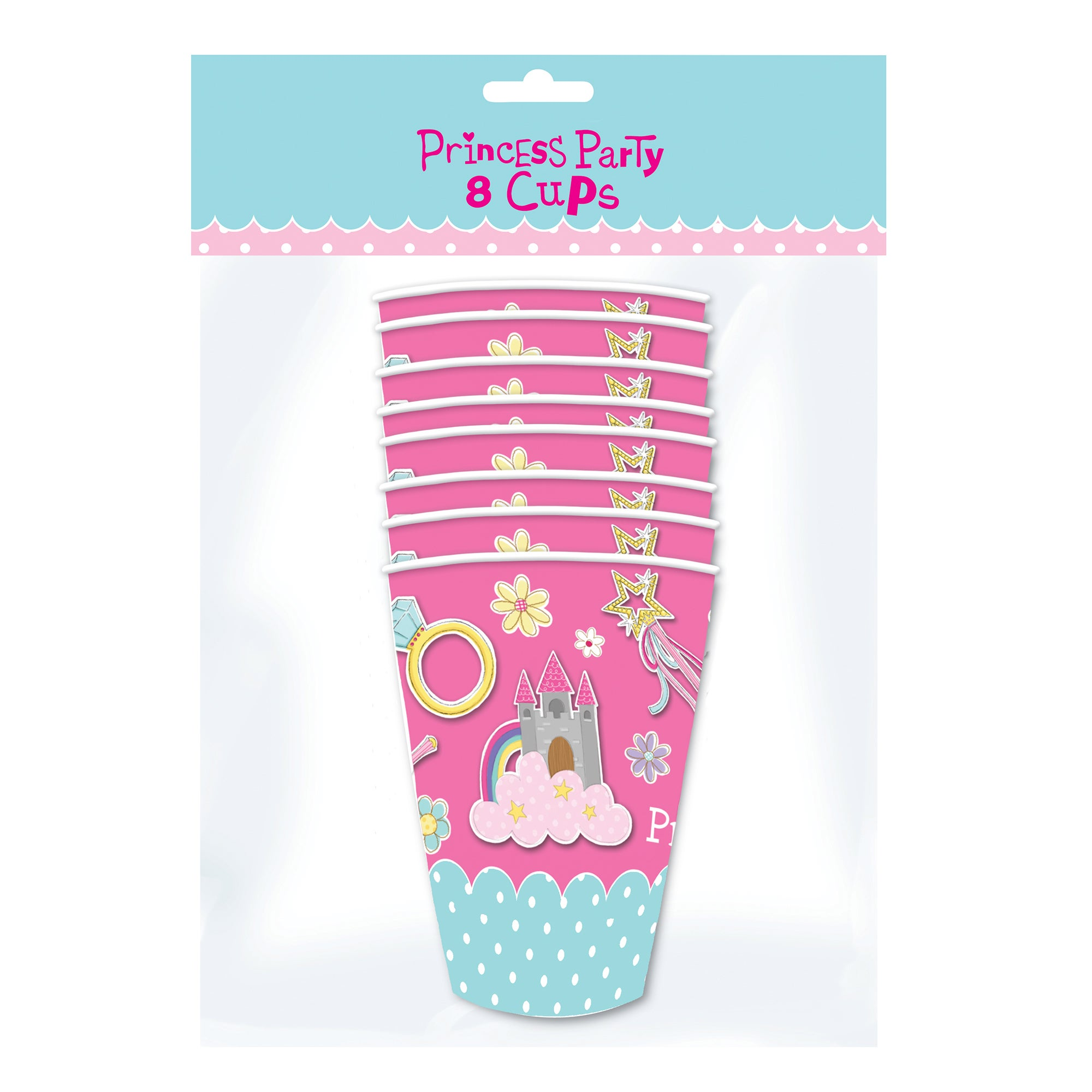 Princess Party Pack of 8 Cups