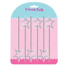 Princess Party Pack of 6 Silver Wands