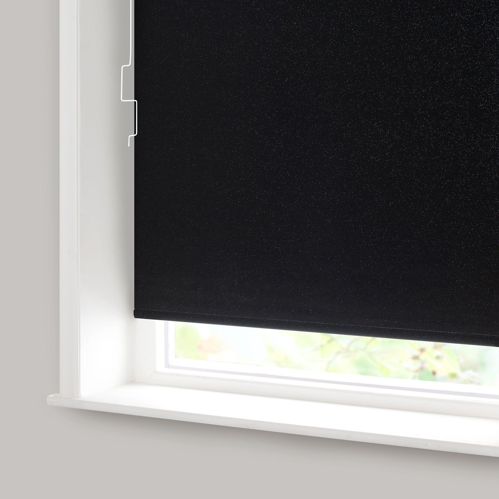 black sparkle blackout cordless roller blind dunelm. Black Bedroom Furniture Sets. Home Design Ideas