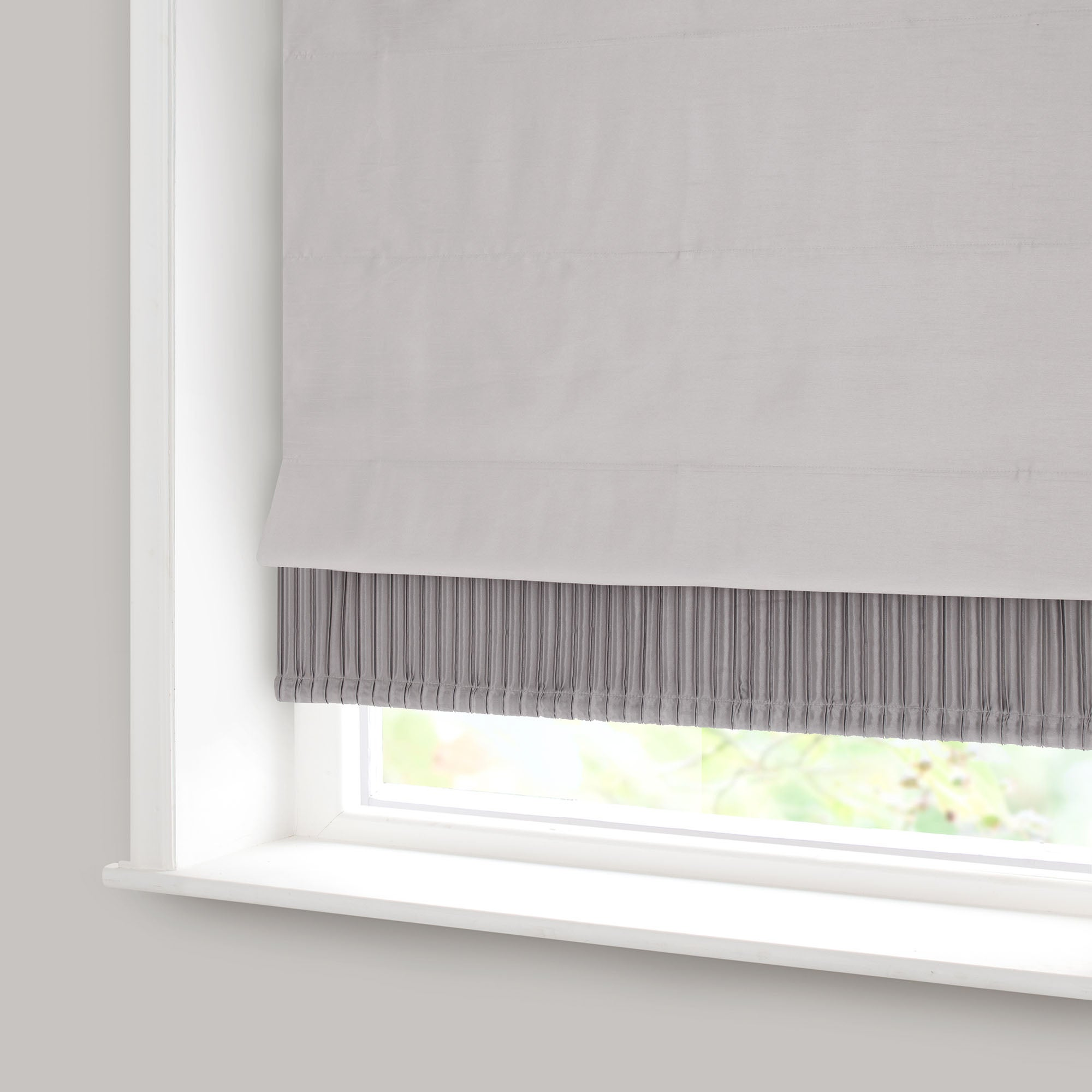 Silver Montreal Blackout Roman Blind