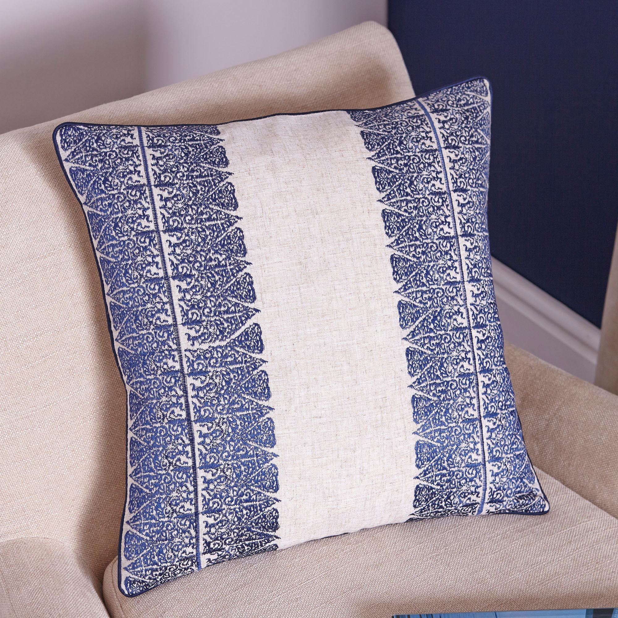 Blue Indigo Collection Cushion