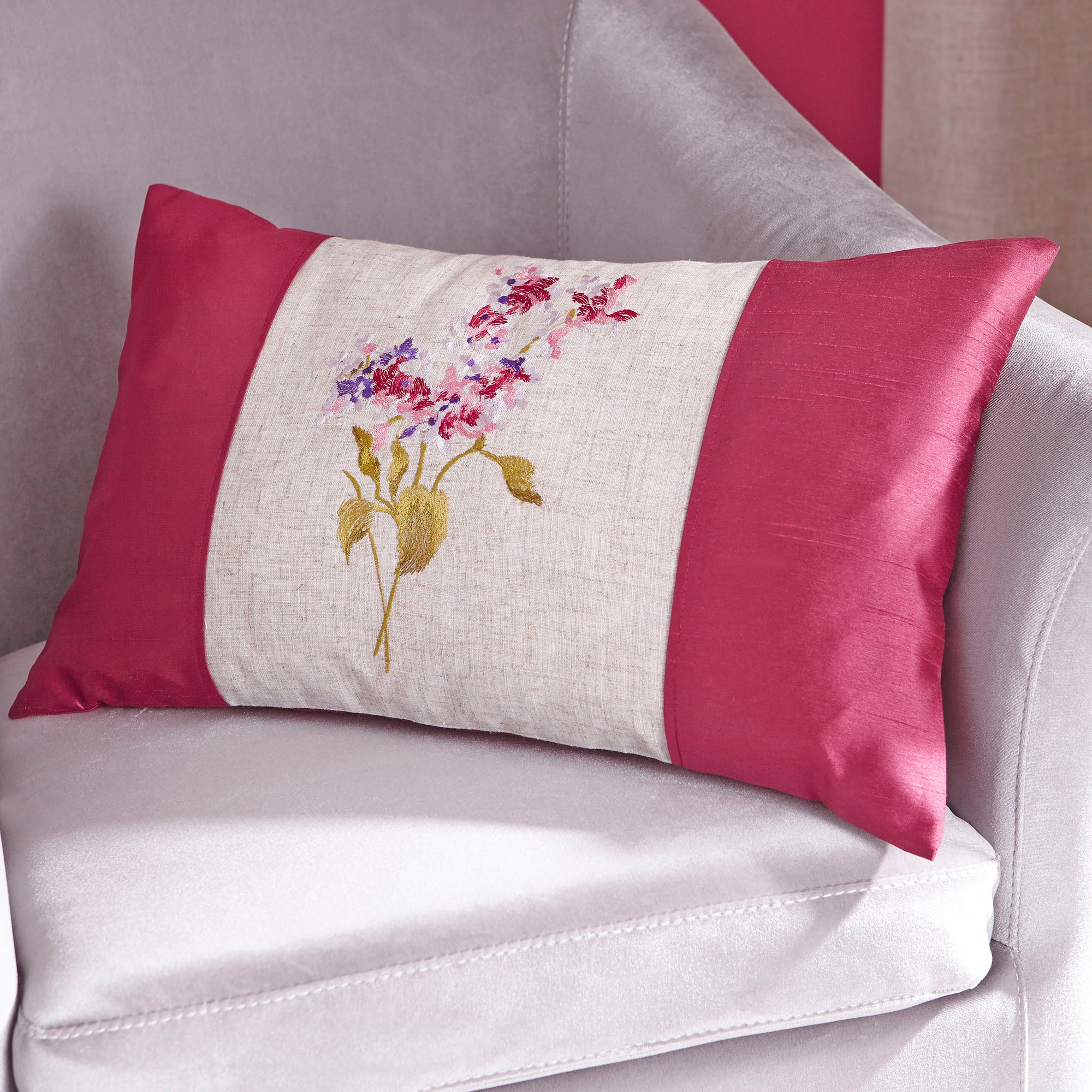 Pink Juliet Collection Filled Cushion