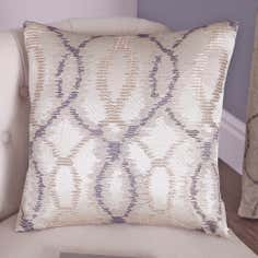 Grey Ikat Collection Filled Cushion