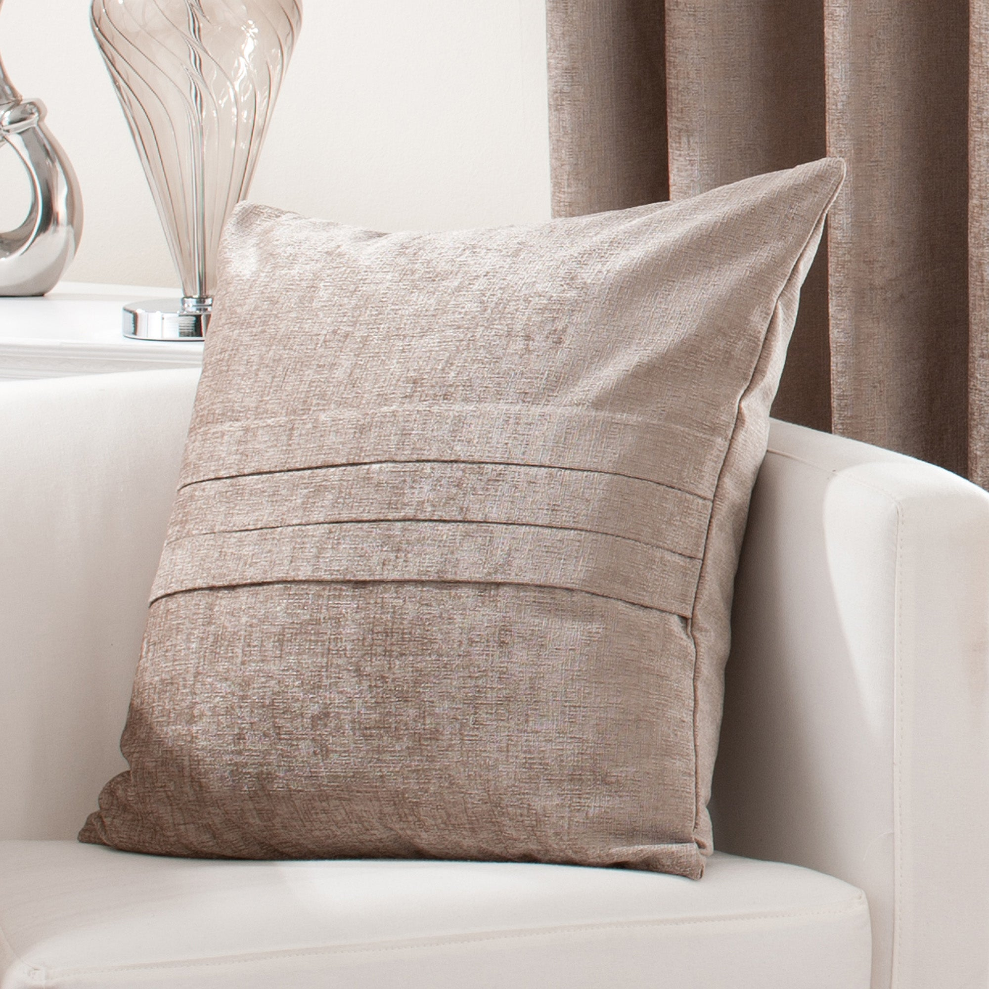 Taupe Chenille Collection Cushion
