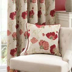 Red Poppy Chenille Collection Cushion