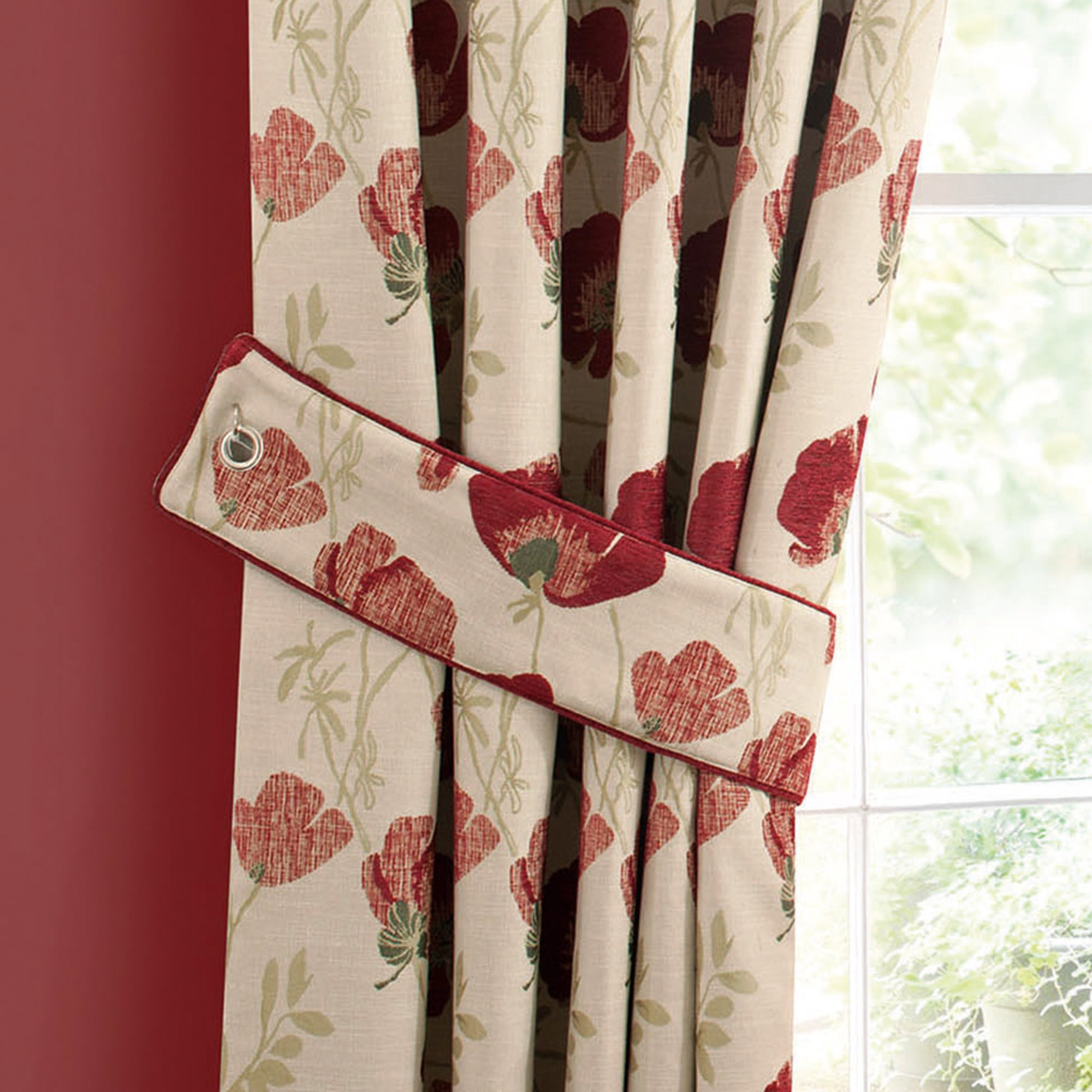 Red Poppy Chenille Collection Tiebacks