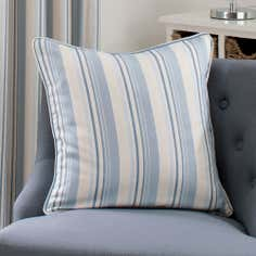 Blue Holkham Stripe Collection Cushion