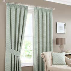 Duck Egg Camilla Lined Pencil Pleat Curtains