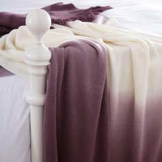 Mauve Ombre Throw