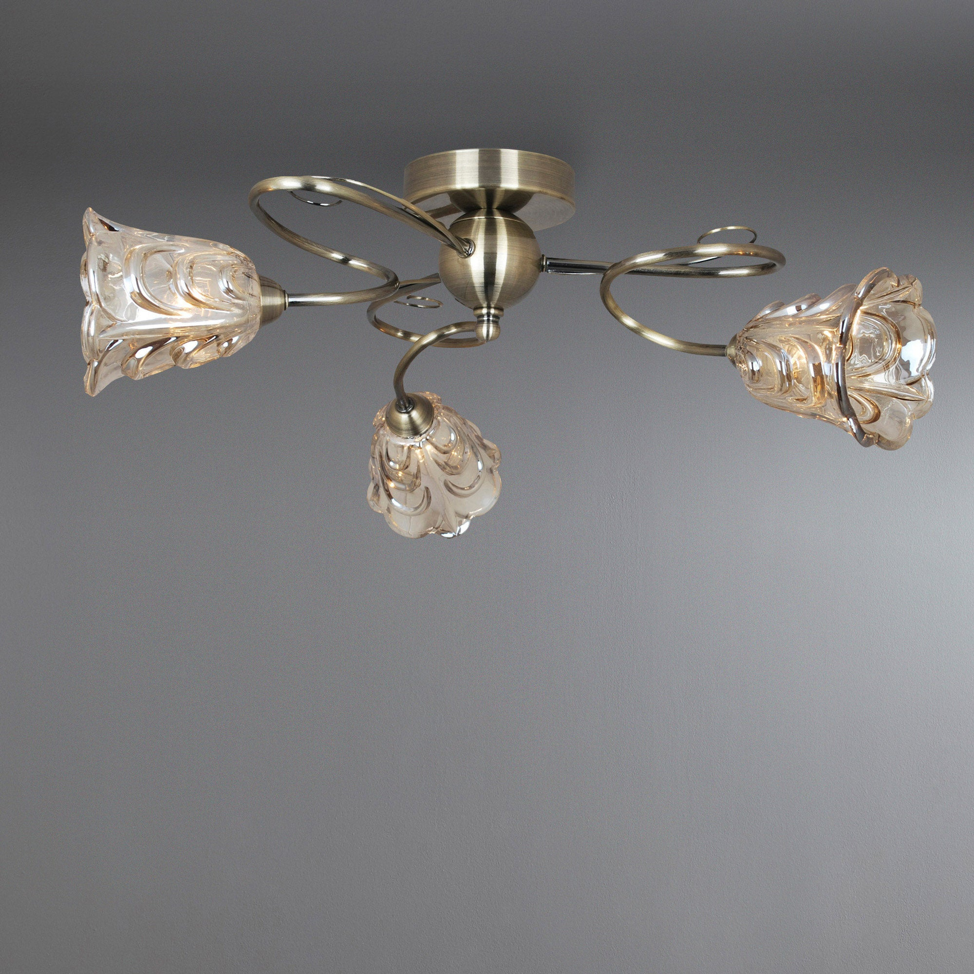 Champagne Amelia 3 Light Fitting