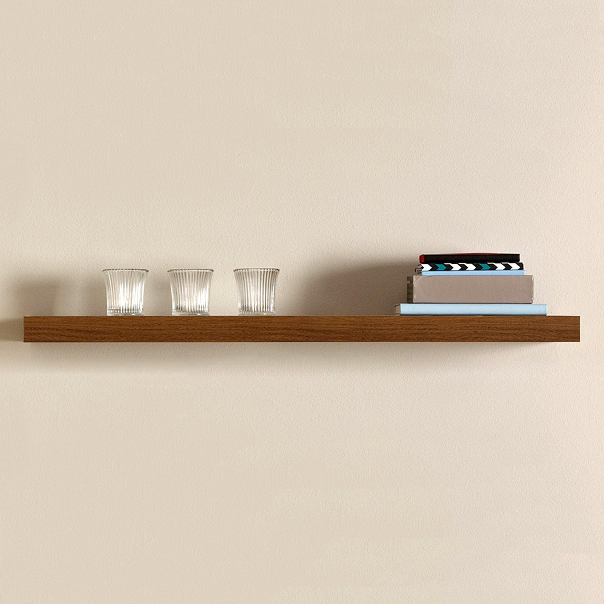 Walnut Effect Floating Shelf Dunelm