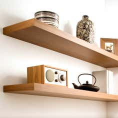 Oak Effect Floating Shelf