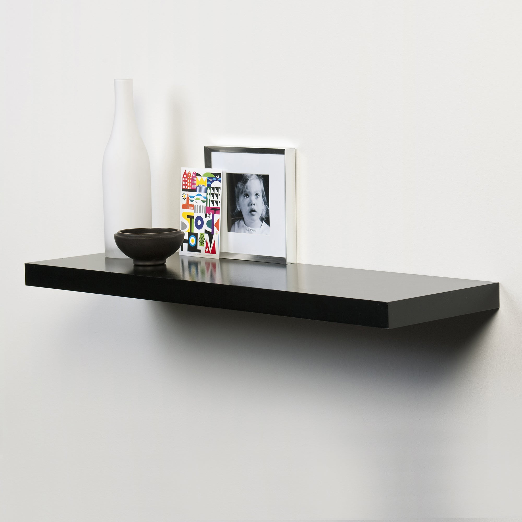 Black Gloss Floating Shelf