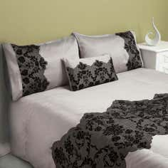 Black Rochelle Collection Duvet Cover Set