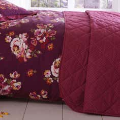 Plum Vintage Floral Collection Bedspread