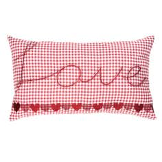 Red Gingham Hearts Collection Boudoir Cushion