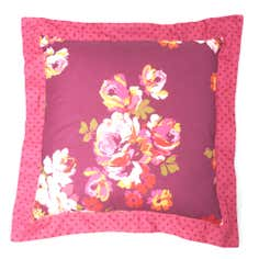 Plum Vintage Floral Collection Quilted Cushion