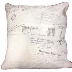 Vintage Postcard Print Cushion