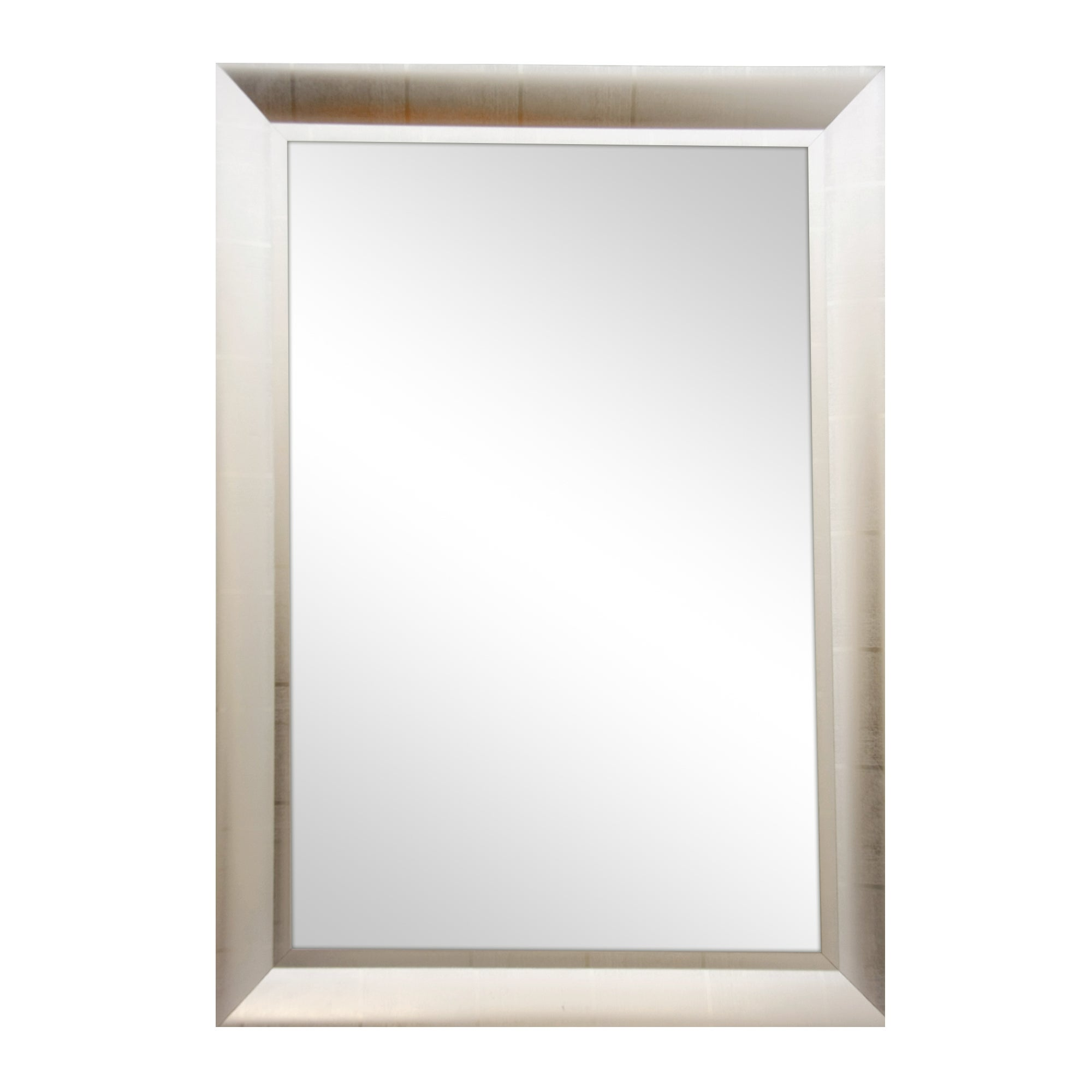 Silver Check Frame Bevelled Mirror
