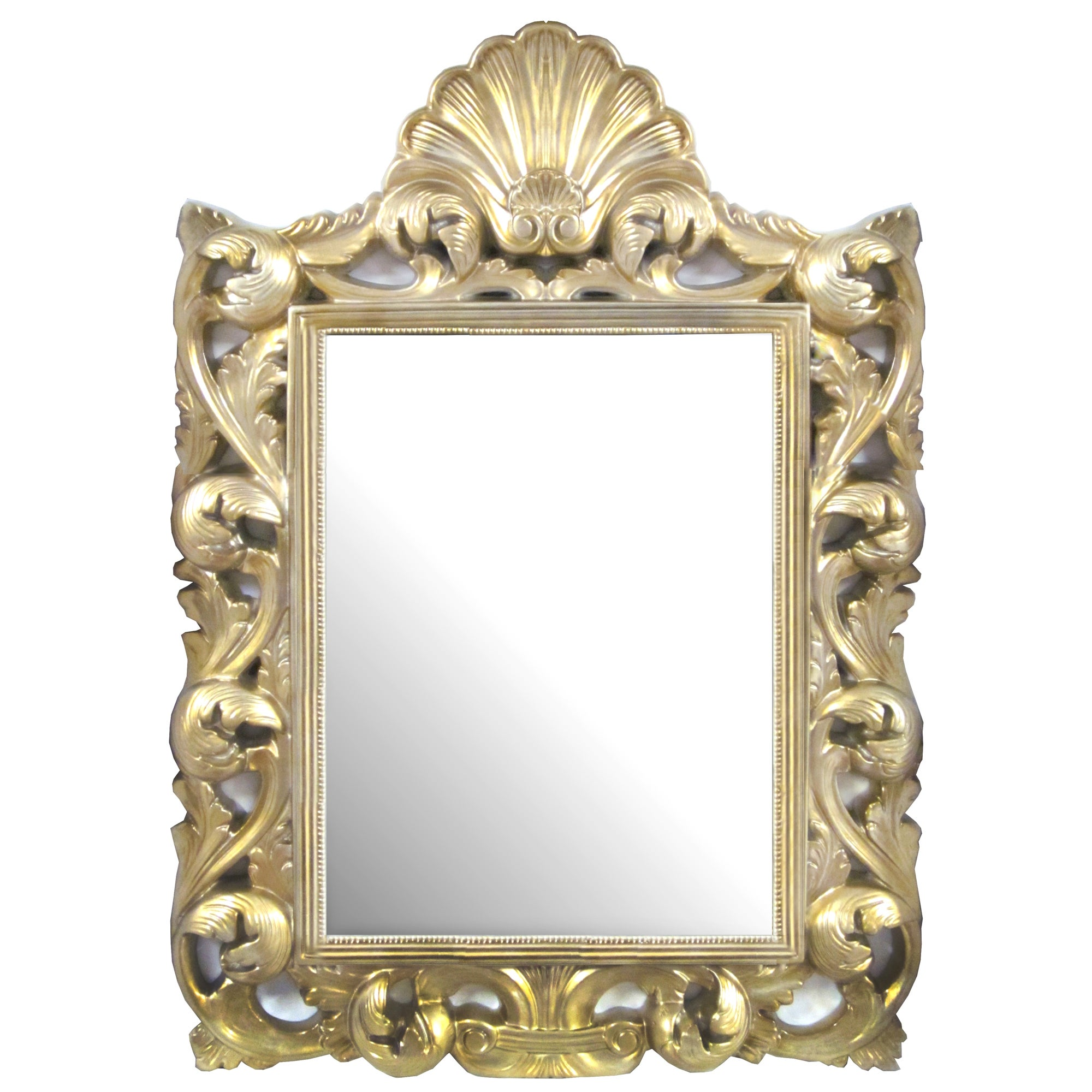 Gold Swirl Framed Mirror