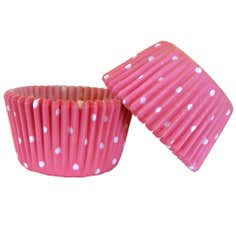 Pack of 48 Polka Dot Cake Cases