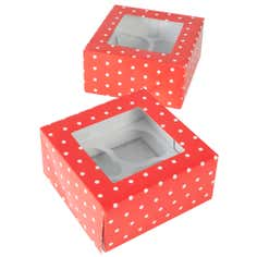 Pack of 2 Polka Dot Cupcake Boxes