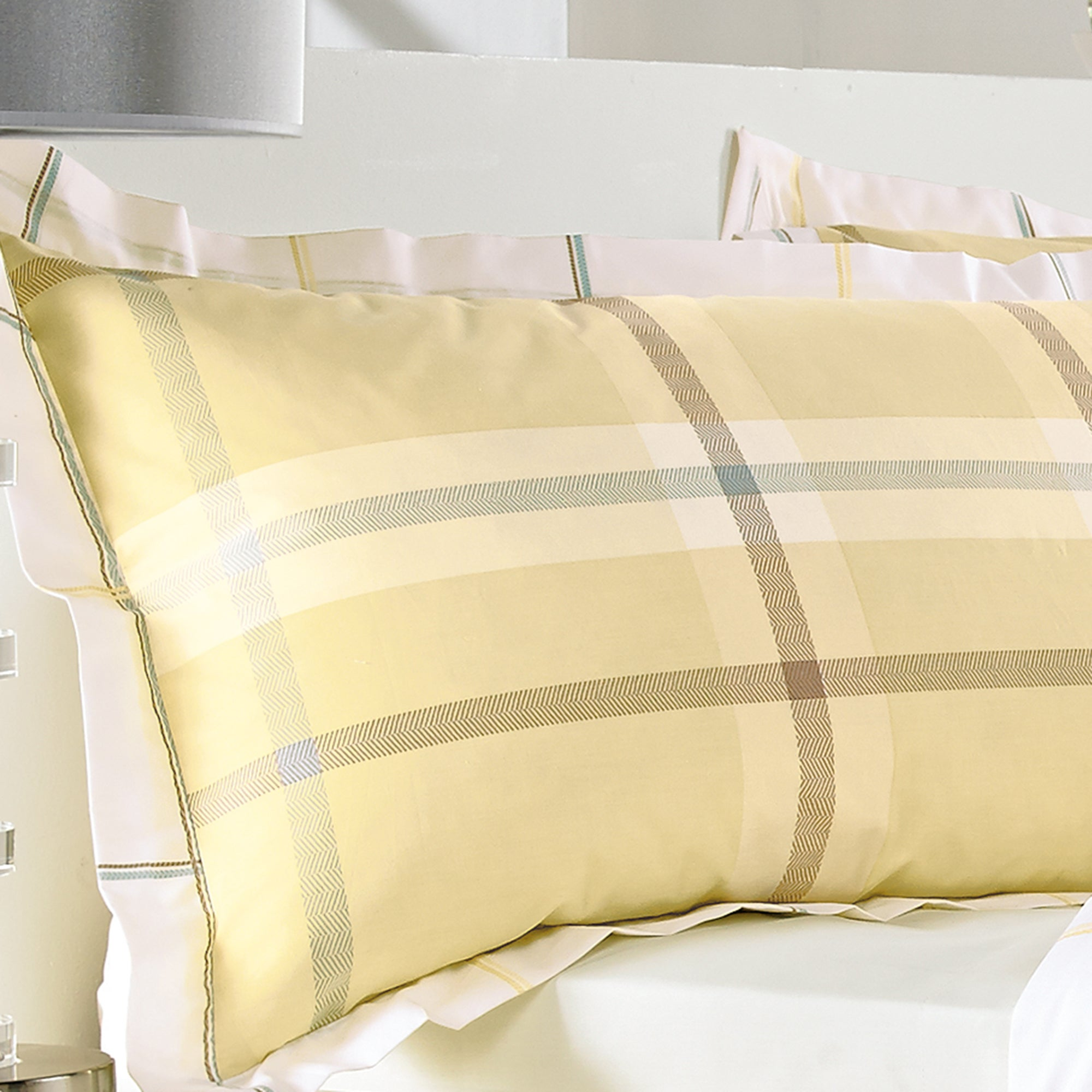 Lemon Colonial Check Collection Oxford Pillowcase