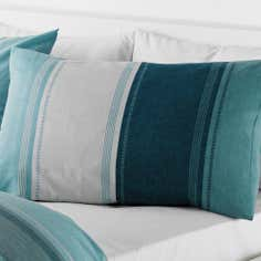 Teal Finley Collection Housewife Pillowcase