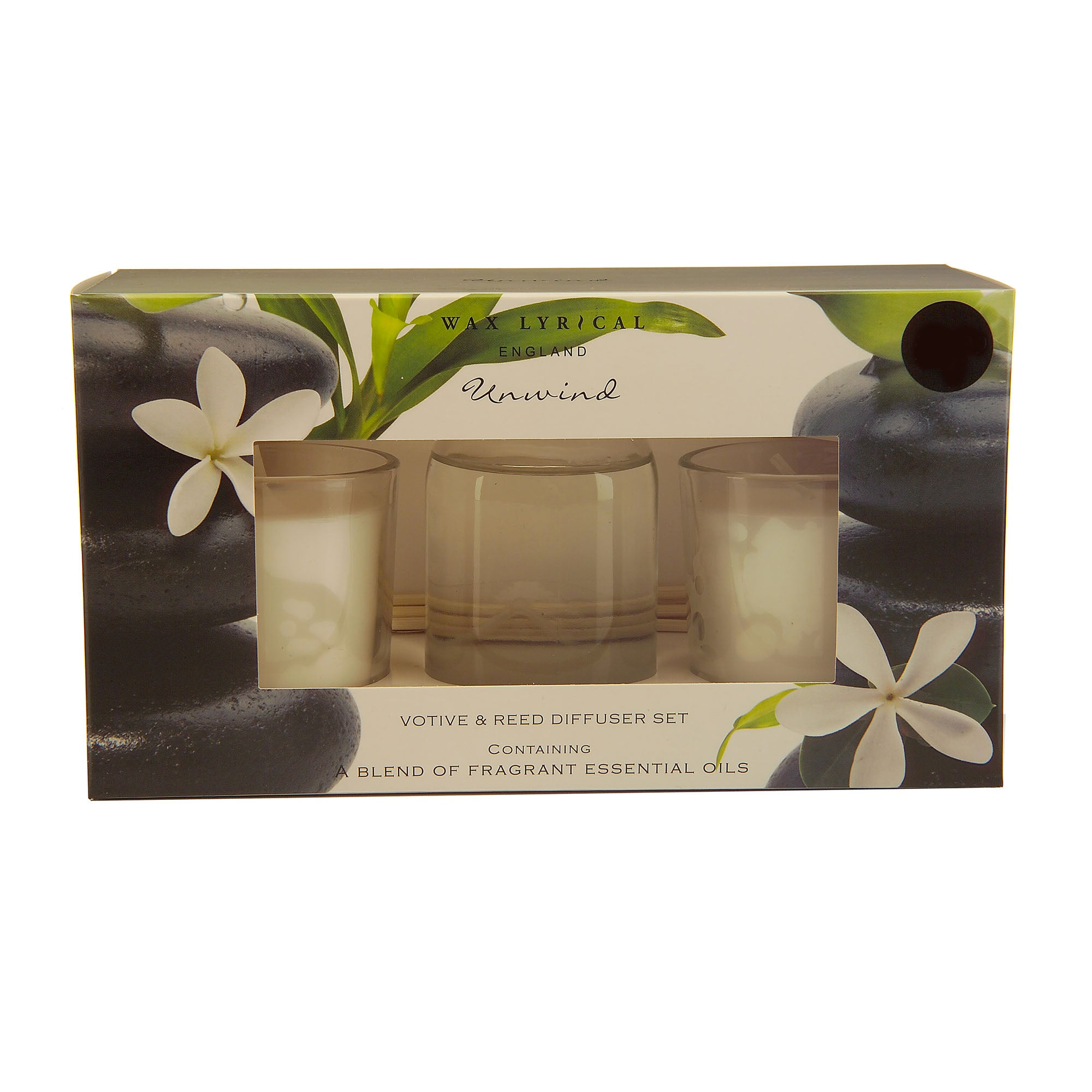 Wax Lyrical Unwind Diffuser and Votive Set