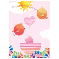 Tweeters Baby Girl Card