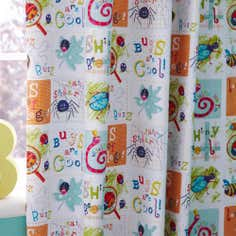 Kids Bugs Blackout Pencil Pleat Curtains