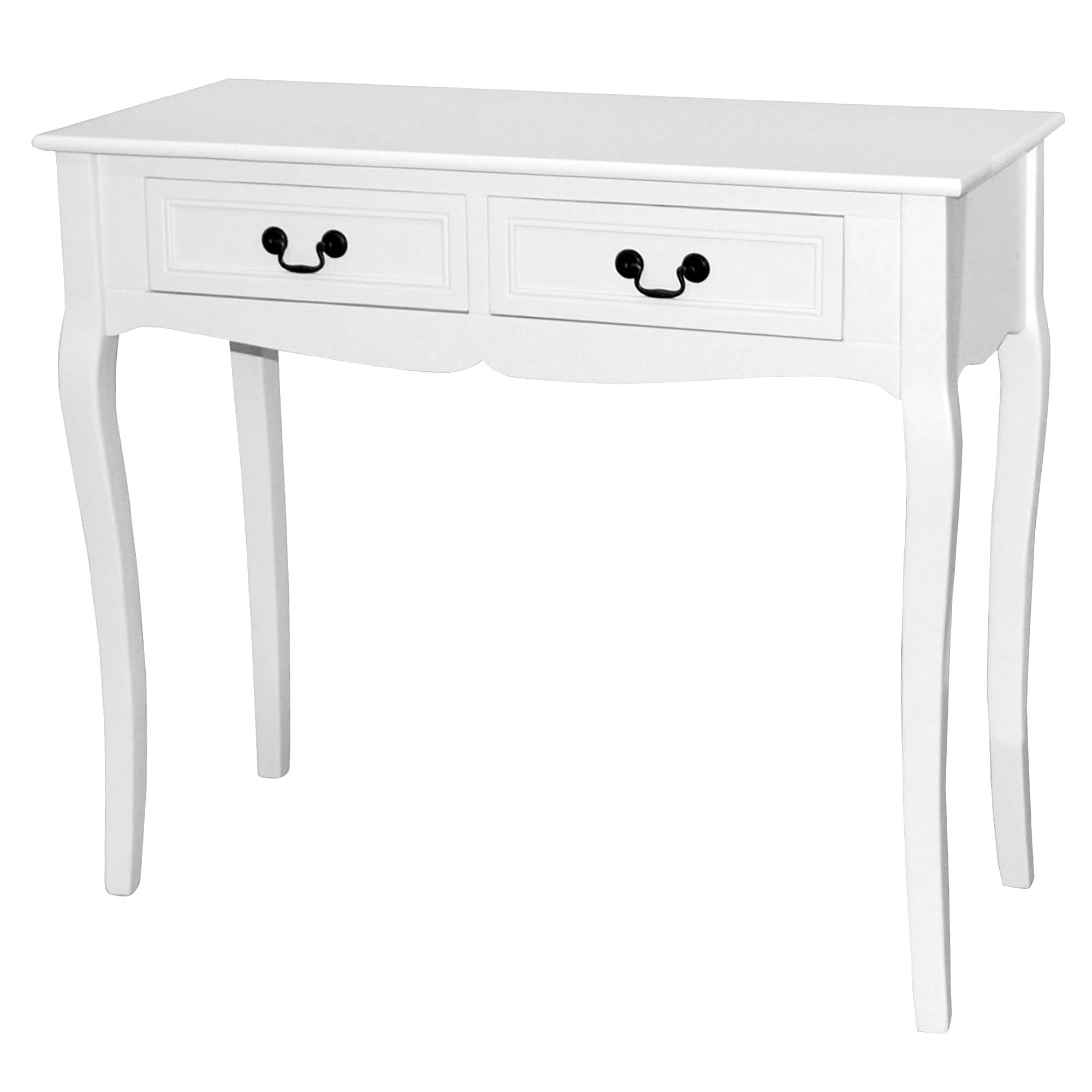 Bordeaux White 2 Drawer Console Table