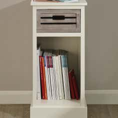 Atlanta White 1 Drawer Telephone Table