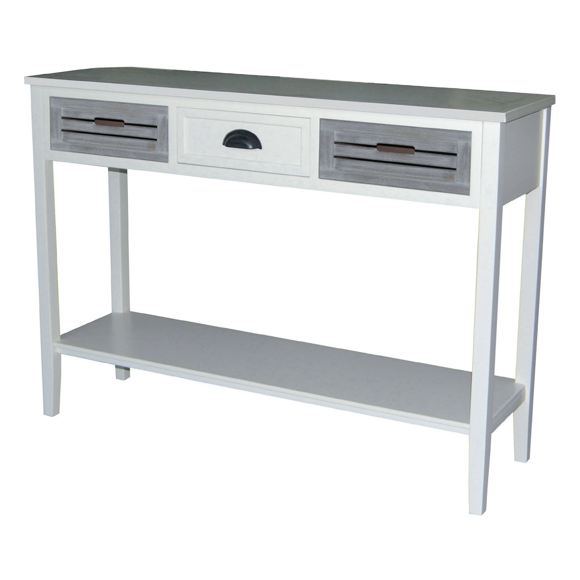 Atlanta White 3 Drawer Console Table