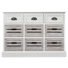 Atlanta White 9 Drawer Sideboard