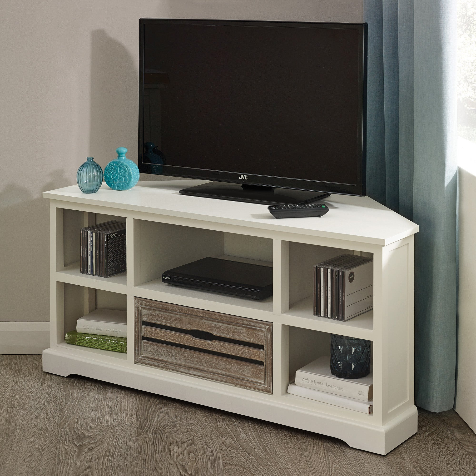 Atlanta White Corner TV Unit