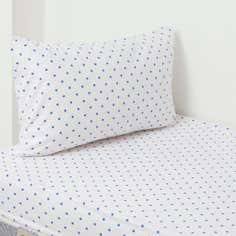 Kids Spot Flannelette Sheet