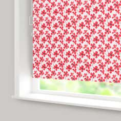 Painted Poppy Blackout Cordless Roller Blind