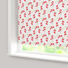 Red Poppy Blackout Cordless Roller Blind