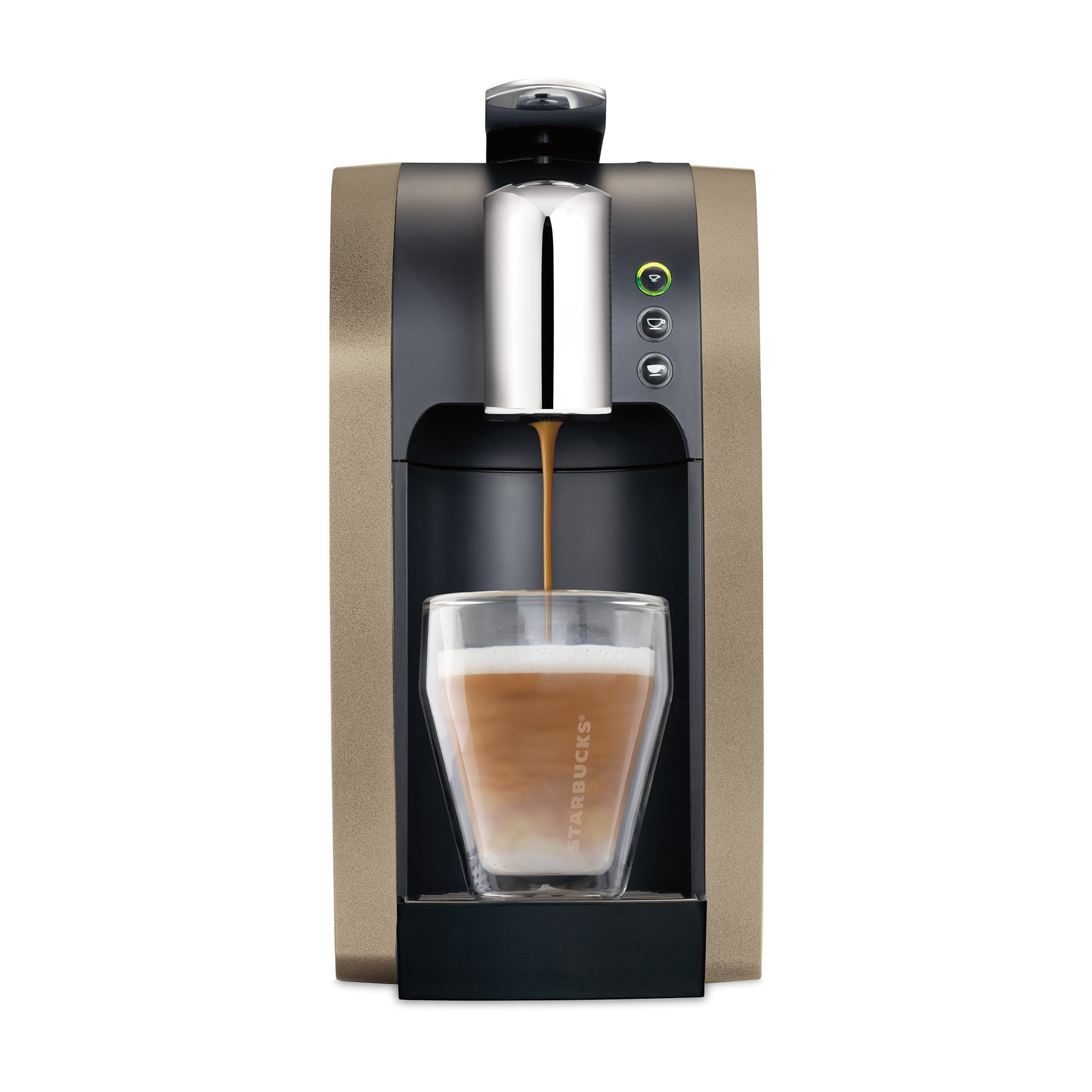 Champagne Starbucks Verismo 580 Brewer Coffee Machine